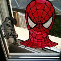 Spiderman et chaton en windows color