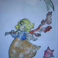 La fée clochette avec paillettes