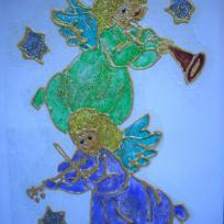 Les anges Vert et Bleu