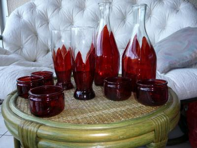 carafes verres et photophores collection scandinave cr ation peinture sur porcelaine et verre. Black Bedroom Furniture Sets. Home Design Ideas