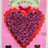 Coeur en spirale pour la  fête des mères