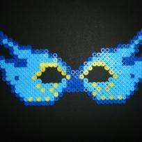 Masque bleu en perles a repasser