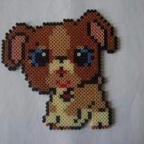 Petit chien Petshops aux yeux bleus