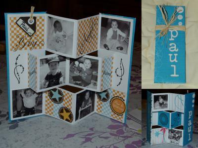mini album paravent bleu paul cr ation scrapbooking de n 34 306 vue 3 696 fois. Black Bedroom Furniture Sets. Home Design Ideas