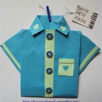 Carte chemise réalisée pour la fête des pères