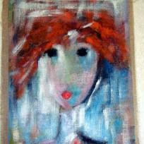Portrait de Lulu sur toile de jute