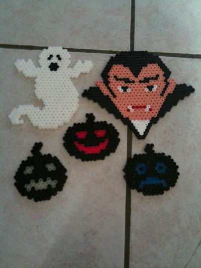 Halloween  Dracula, Fantôme et citrouilles