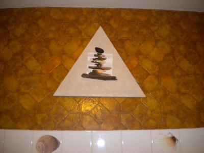 Tableau en triangle zen