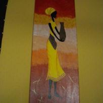 Paravent  Femme africaine 3ème panneau