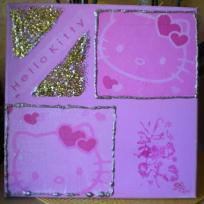 Tableau de Teresa Hello Kitty toute en rose