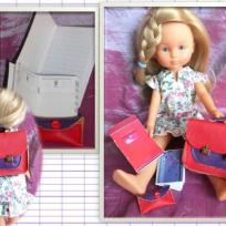 La rentrée des poupées, cartable miniature