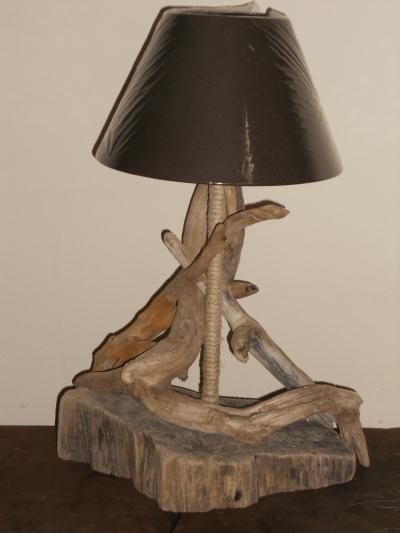 lampe noire en bois flott branches entrelac es cr ation lampes et guirlandes lumineuses de. Black Bedroom Furniture Sets. Home Design Ideas