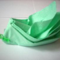 Bateau vert - pliage serviette