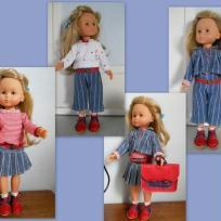 4 Tenues de collégienne pour poupée Chérie