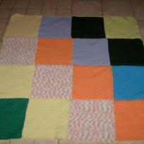 Couverture au crochet multicolor pour éthann