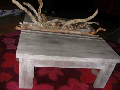 table basse et bois flott cr ation meuble en carton de anne1963 n 36 776 vue 7 751 fois. Black Bedroom Furniture Sets. Home Design Ideas