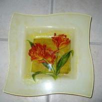 Vide poche avec ses fleurs