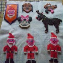 Trio de Pères Noël, leur renne et leurs amis...