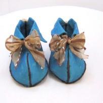 Chaussures d'enfants bleu et beige