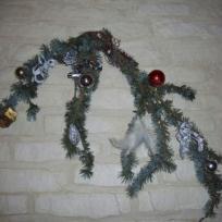Branche de sapin décorée