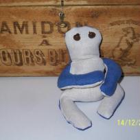 Grenouille bleue et blanche