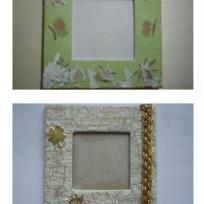 Cadre photo aimenté avec ruban or (avant et après)