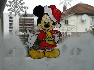 mickey tout en rouge dcorations de noel - Windows Color Noel