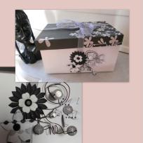 Boîte scrapée -version noir et blanc
