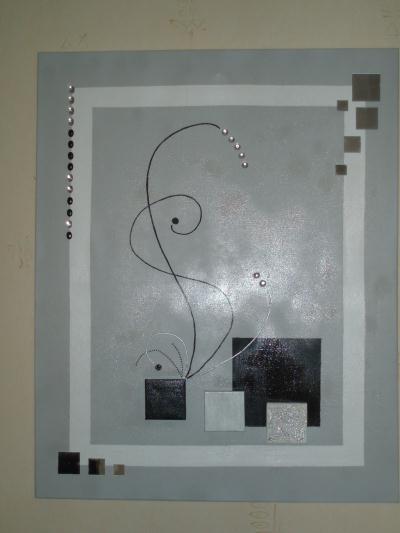 tableau moderne ton gris