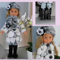 Manteau douillet pour poupée Chérie