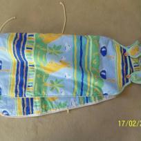 Gigoteuse/turbulette pour bébé vetre et bleue