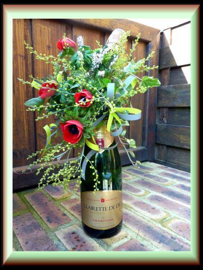 Pour recevoir fleurir un col de bouteille