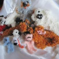 Mes Bébêtes en laine crochetée