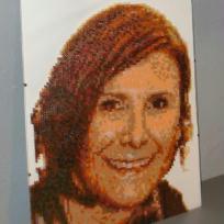 Portrait femme  n° 6 (en perles)