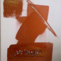 Peinture abstraite representant une tête et un chapeau