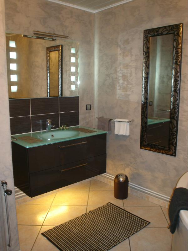 nouvelle d co salle de bain 1 cr ation peinture multi supports de canoue n 39 732 vue 6 761 fois. Black Bedroom Furniture Sets. Home Design Ideas