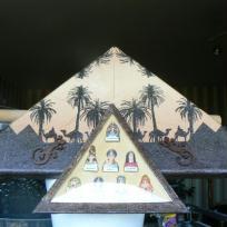 Tableau Egypte collage de serviette