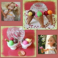 Miniature - Glaces en fimo pour les poupées