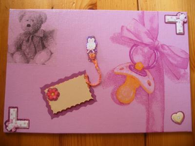 Petit cadre pour chambre b b cr ation serviettes en papier de ananas n 40 336 vue 2 934 fois - Cadre pour chambre enfant ...
