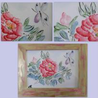 Peinture chinoise à l'aquarelle  - pivoine