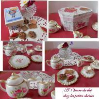L'heure du thé chez les poupées Chéries