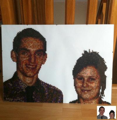 Portrait n° 12- couple  (en perles)