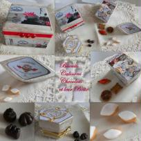 Chocolats, calissons et biscuits en fimo