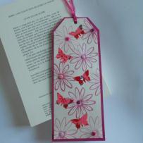 Marque-page fleurs et papillons