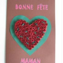 Carte de fête des mères ... coeur d'amour ...