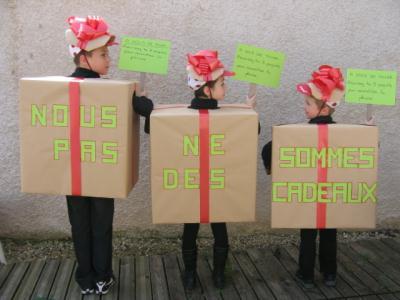 Deguisements fait maison - carnaval de l'école