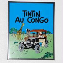 Cadre en verre_Découverte du Congo pour Tintin
