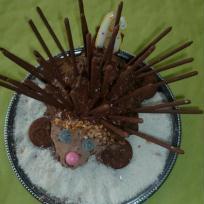 Gâteau d'anniversaire hérisson.