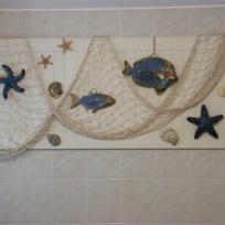 Déco marine sur cadre pour ma salle de bain.