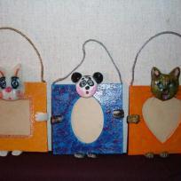 Cadres photos enfants avec têtes d'animaux